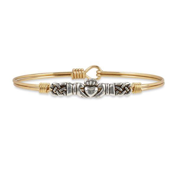 Claddagh Bangle Bracelet handmade in the USA by luca + danni
