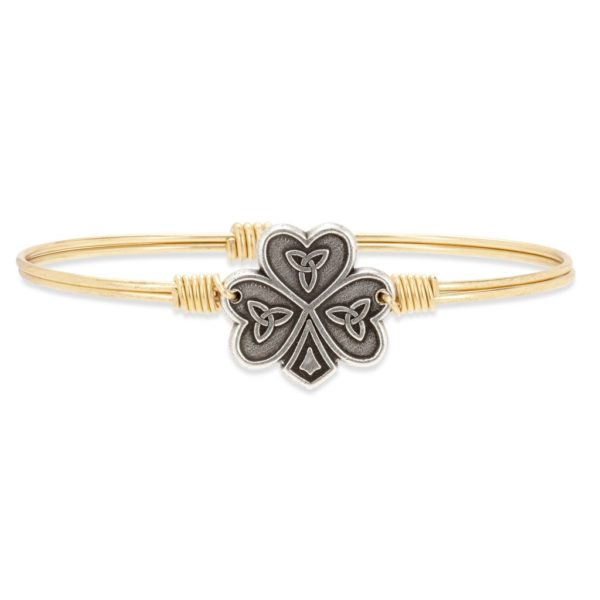 Shamrock Bangle Bracelet handmade in the USA by luca + danni