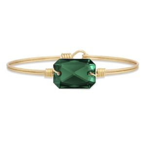 Dylan Bangle Bracelet in Emerald handmade in the USA by luca + danni
