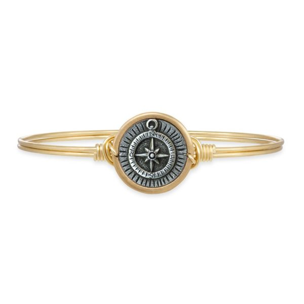 Compass Bangle Bracelet handmade in the USA by luca + danni