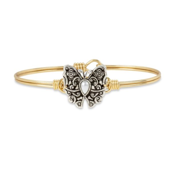 Butterfly Bangle Bracelet handcrafted in the USA by luca + danni