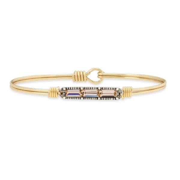 Mini Hudson Bangle Bracelet in Peach by luca and danni
