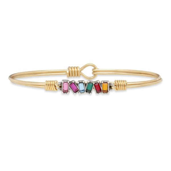 Mini Hudson Bangle Bracelet in Ombre by luca and danni