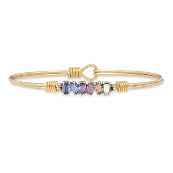 Mini Hudson Bangle Bracelet in Light Ombre by luca and danni