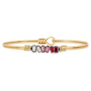 Mini Hudson Bangle Bracelet in Love Ombre