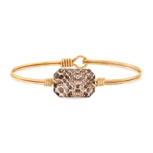 Dylan Bangle Bracelet in Snakeskin