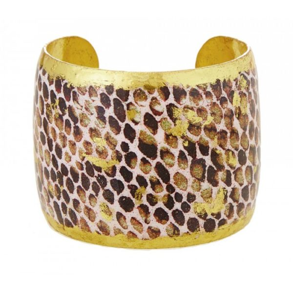 Snakeskin Chocolate Cuff