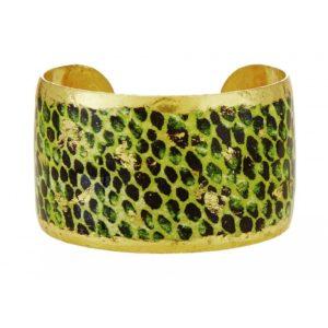 Snakeskin Green Cuff -1.5 in