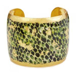 Snakeskin Green Cuff