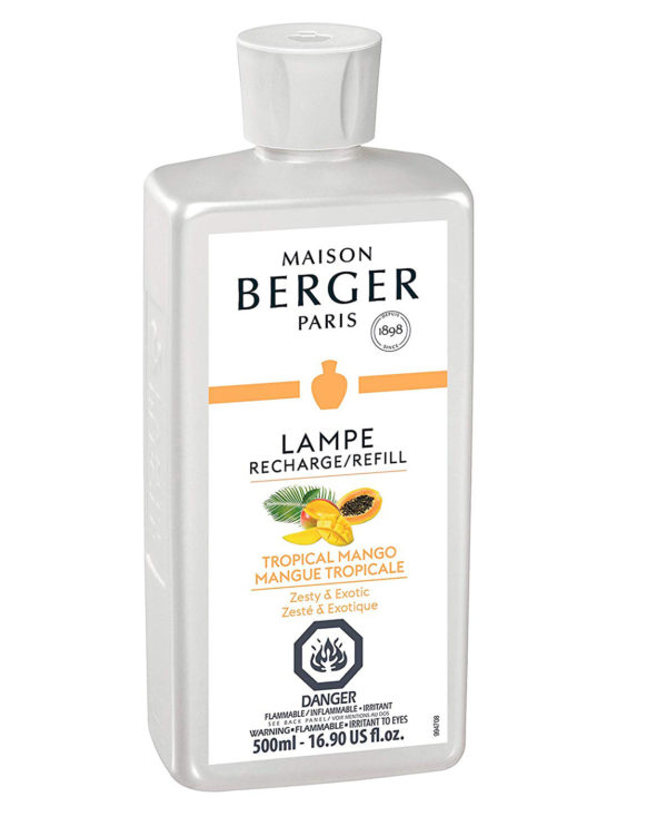 Tropical Mango, a fruity fragrance with notes of lychee, mango, and white musk home fragrance by lampe berger maison berger air purifier