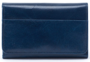 leather Jill Sapphire Wallet by hobo the original