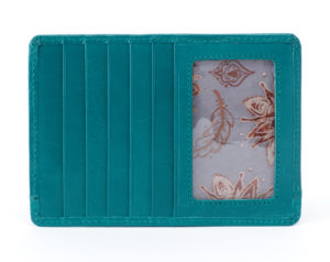 leather Euro Slide Teal Passport Wallet by hobo the original