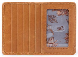 leather Euro Slide Honey Credit Card Wallet by hobo the original