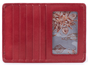 leather Euro Slide Logan Berry Credit Card Wallet by hobo the original