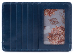 leather Euro Slide Sapphire Credit Card Wallet by hobo the original