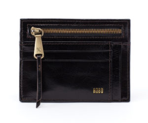 leather Brink Black Wallet by hobo the original