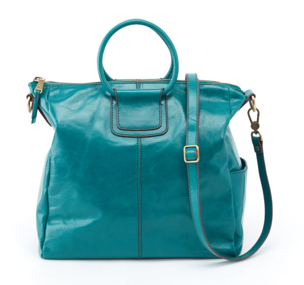 leather Sheila Teal Carry-All Bag by hobo the original