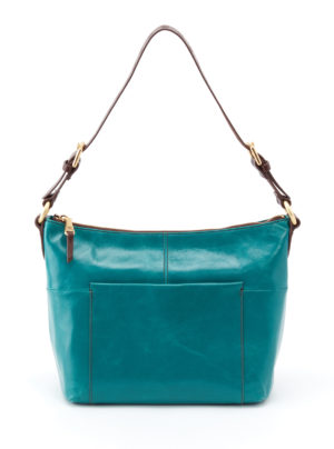 leather Charlie Teal Shoulder Bag by hobo the original
