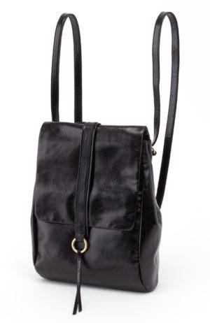 leather Bridge Black Backpack by hobo the original
