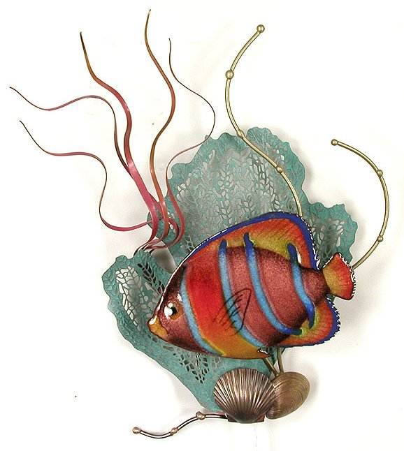 King Angelfish with Sea Fan