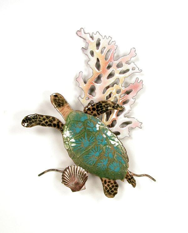 Mini Sea Turtle with Coral