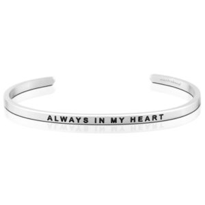 Always In My Heart bangle Bracelet Silver