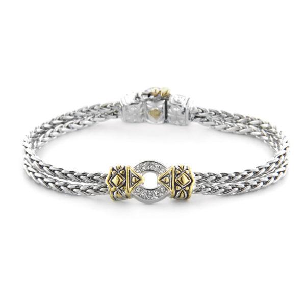 two tone One Circle Pave Bracelet