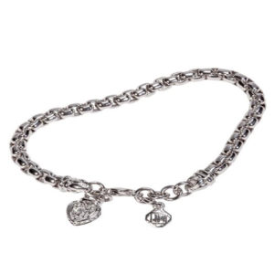 "Silver Rhodium 7"" Box Chain Bracelet"