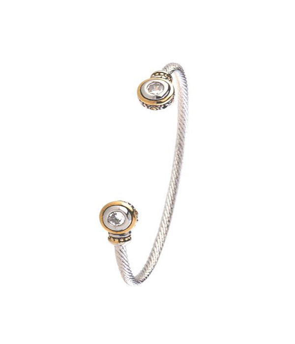 two tone Wire Cuff 5mm by john medeiros