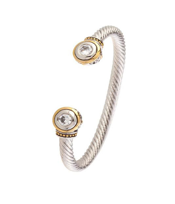 two tone Wire Cuff 6mm by john medeiros