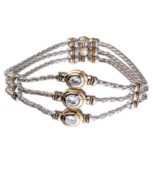 two tone 3 Strand Bracelet by john medeiros
