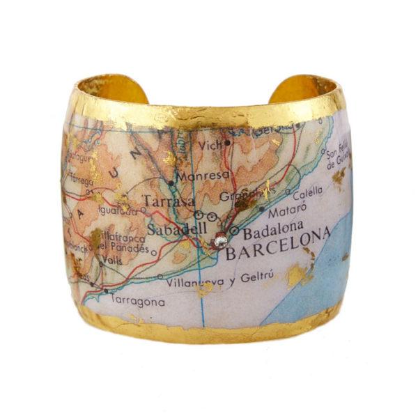 Barcelona Map Cuff
