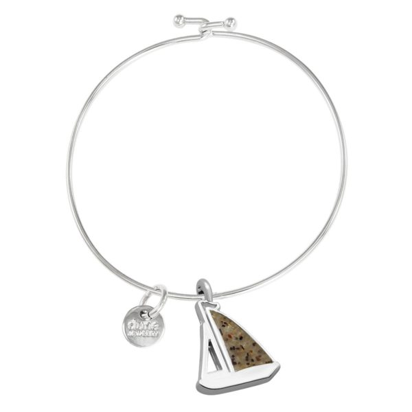sailboat bangle bracelet handmade in the USA by dune jewelry