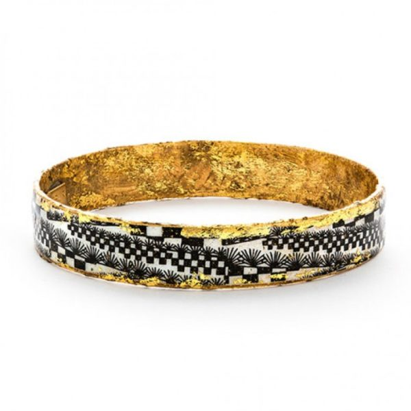 Black Checkers Bangle