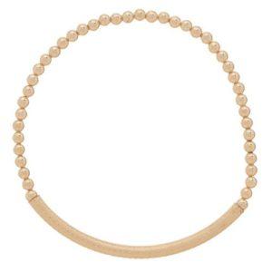 Bliss Bar Textured 3mm Bead Bracelet - Gold