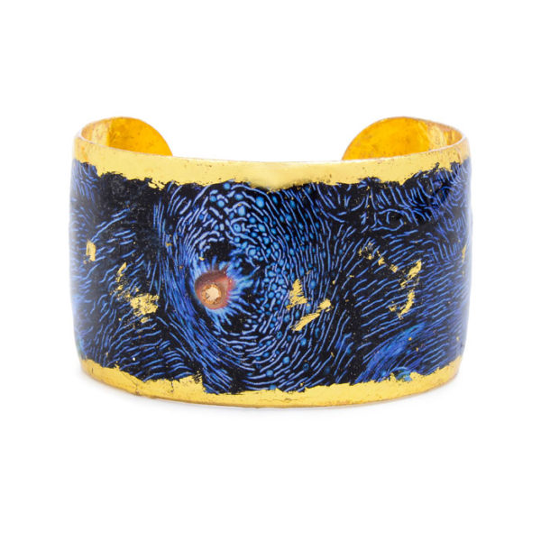 Blue Clam Cuff - Gold