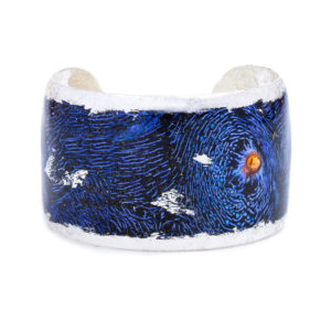Blue Clam Cuff - Silver