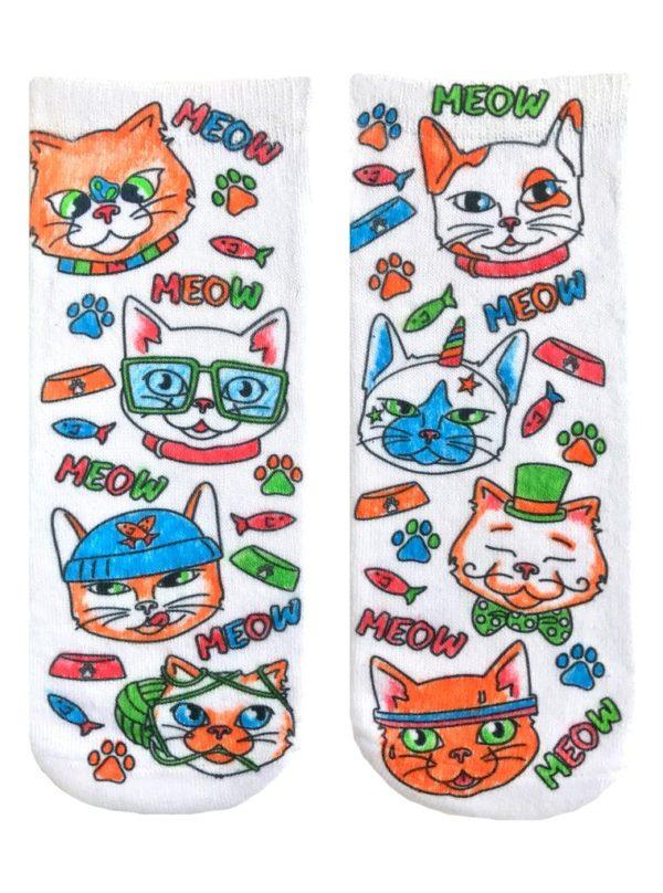 COLOR-IN SOCKS CAT VIBES