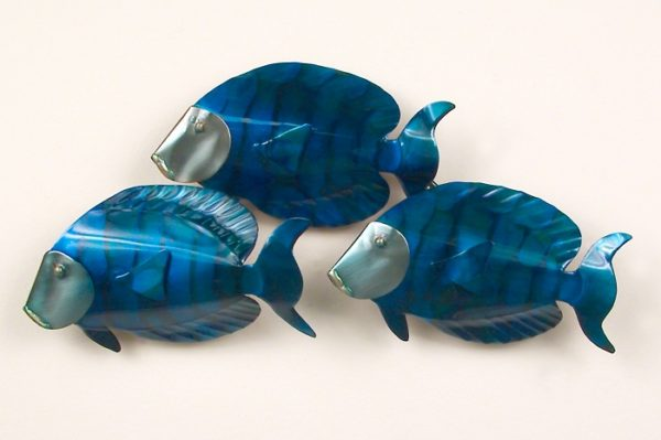 School of Blue Tangs 3 Fish