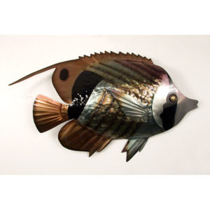 Striped Butterfly Fish Single Wall Art