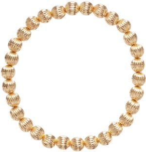 dignity gold 6mm bead bracelet