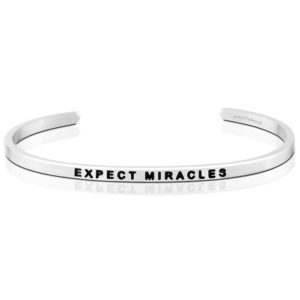 Expect Miracles bangle Bracelet Silver by mantraband