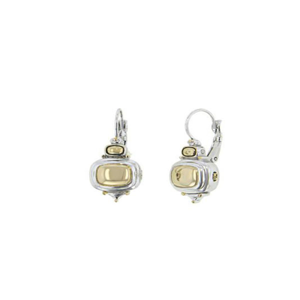 Gold Dome French Wire Earrings