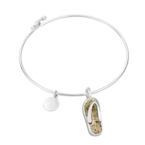 flip flop bangle bracelet handmade in the USA by dune jewelry