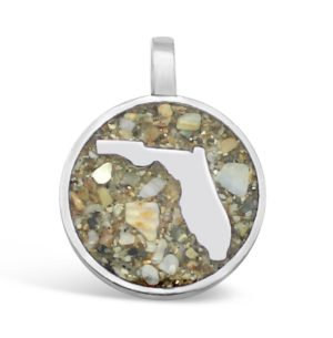 florida charm with sand handmade in the USA by dune jewelry