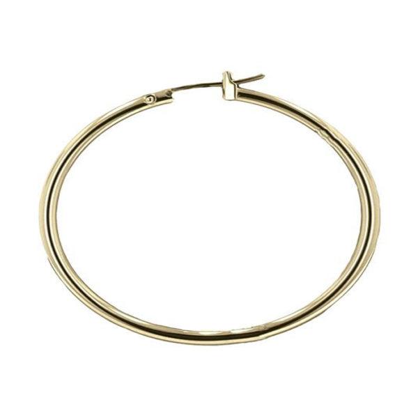Gold Plated Large Hoop Earrings