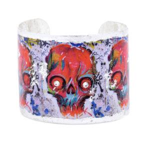 Graffiti Skull Cuff