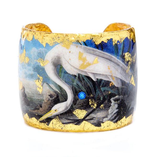 Great Egret Blue Cuff