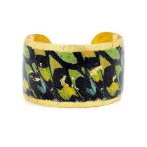 Green Orange Butterfly Cuff