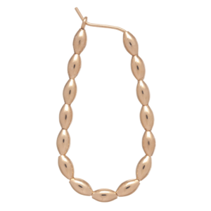"beaded oval gold 1.25"" hoop - harmony small gold"